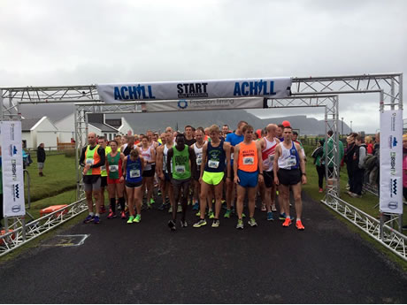 Start of 2015 Achill Half Marathon