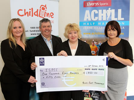 Presentation of 2012 fundraising cheque to ISPCC